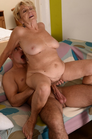 Old Malya loves young and hard dick, loves to jump on it and suck
